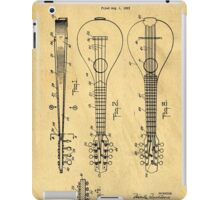 Stringed Musicial Instrument Patent Art Blueprint Drawing iPad Case/Skin
