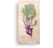 Heart Beet Canvas Print