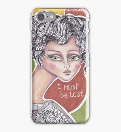 denthe girl I must be lost case iPhone Case/Skin