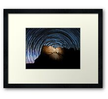Star trails over Mount Rushmore National Memorial Framed Print