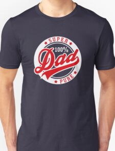 100 percent PURE SUPER DAD Red/White Unisex T-Shirt