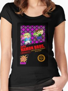 Super Hamon Bros Women's Fitted Scoop T-Shirt
