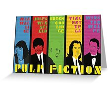 Pulp Fiction - Vibrating Colors Greeting Card