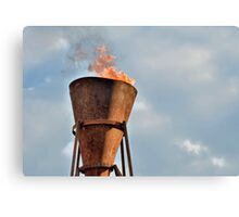 Ancient Flame Lighting Device Canvas Print