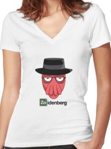 Zoidenberg on light colors Women's Fitted V-Neck T-Shirt