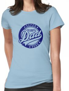 100 percent PURE SUPER DAD Navy Womens Fitted T-Shirt