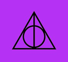 The Deathly Hallows - Purple by Emma Davis