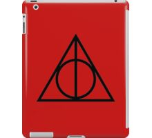 The Deathly Hallows - Red iPad Case/Skin