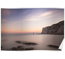 Beachy head sunset, 300 second exposure Poster