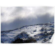 Ridges in the snow II Poster
