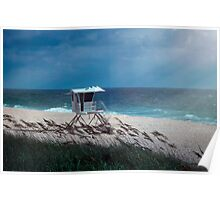 Morning on the Beach Poster