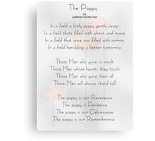 The Poppy Canvas Print