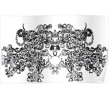 Intense Detailed Line Abstraction Poster