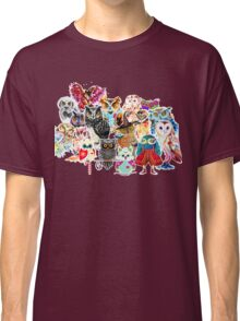 Owls collage Classic T-Shirt