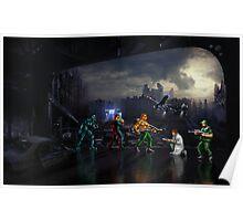 Terminator pixel art Poster