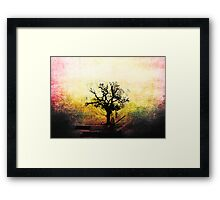 Grunge Tree Framed Print