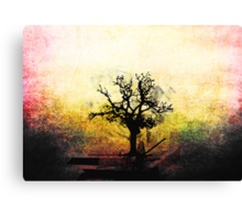 Grunge Tree Canvas Print