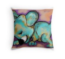 Seeker the Search Dog - by Beatrice Ajayi Throw Pillow