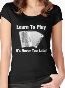 Learn To Play Accordion Women's Fitted Scoop T-Shirt