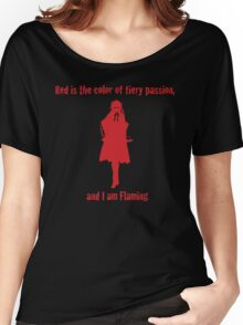 Flaming Women's Relaxed Fit T-Shirt