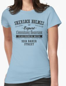 Sherlock Holmes Ad -Dark- Womens Fitted T-Shirt