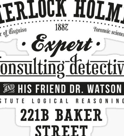 Sherlock Holmes Ad -Dark- Sticker