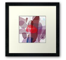 Drifting conglomerate of purple, abstract  Framed Print