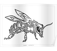 """Bee Spirit"" - Surreal abstract tribal bee totem animal Poster"