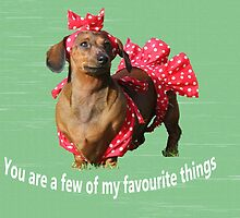 You are a few of my favourite things by Sarah Guiton