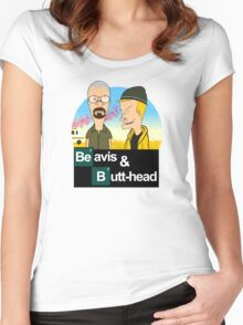 Breaking Beavis  Women's Fitted Scoop T-Shirt