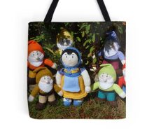 Hand Knitted Snow White and her Seven Dwarfs Tote Bag
