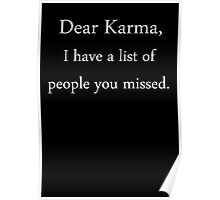 Dear Karma, Poster