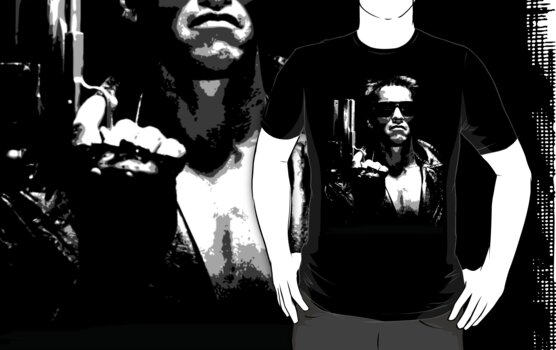 the terminator t-shirt by parko