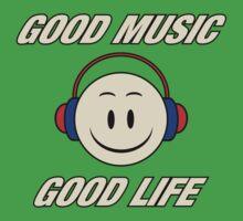 Good Music Good Life One Piece - Short Sleeve
