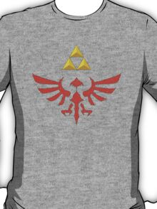Vintage Look Zelda Link Hylian Shield Graphic T-Shirt