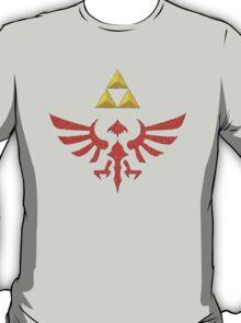 Vintage Look Zelda Link Hylian Shield Graphic T-Shirt