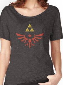 Vintage Look Zelda Link Hylian Shield Graphic Women's Relaxed Fit T-Shirt