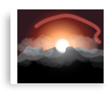 Sun and Mountains Canvas Print