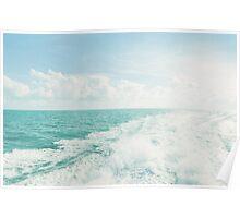White Water on Ocean Poster