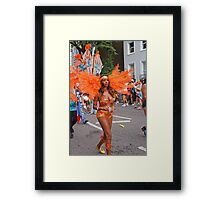 A million people attended the Notting Hill carnival in london Framed Print