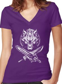 Ultima Buster  Women's Fitted V-Neck T-Shirt