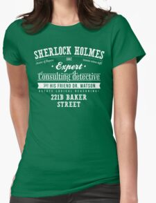 Sherlock Holmes Ad -Light- Womens Fitted T-Shirt
