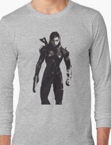 Minimalist Female Shepard from Mass Effect Long Sleeve T-Shirt