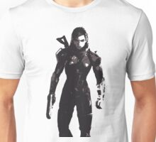 Minimalist Female Shepard from Mass Effect Unisex T-Shirt