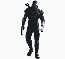 Minimalist Male Shepard from Mass Effect Unisex T-Shirt