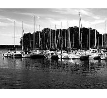 Sail Boats B&W Photographic Print