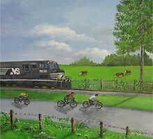 Norfolk Southern Railroad by Marcia Manning