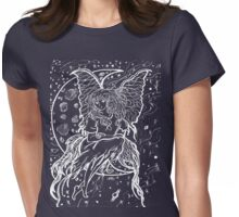 girl in the moon 2  Womens Fitted T-Shirt