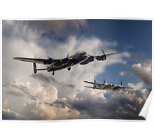 Lancaster and Mosquito Legends Poster