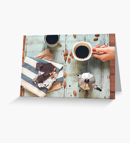 Coffee For Two Greeting Card